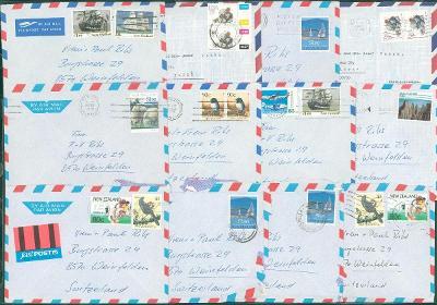 22B15 Dopis New Zealand / Nový Zéland - Helvetia Weinfelden - 12ks