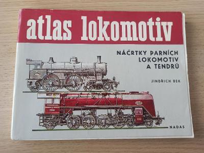 Atlas lokomotiv - náčrty parních lokomotiv a tendrů