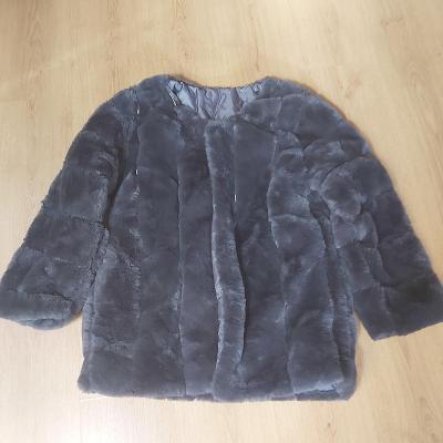 KOŽÍŠEK KOŽICH kabátek chlupatkový nový vel. XL