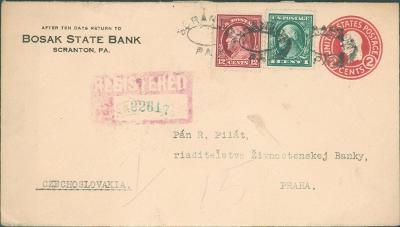 20B258 Dofrankovaná celina Scranton USA - Živnostenská banka Praha