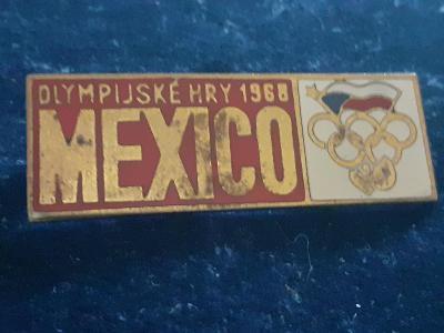 Odznak OLYMPIJSKÉ HRY MEXICO 1968