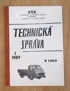 Technická zpráva ŠKODA 1203.