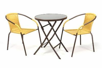 Zahradní set BISTRO 2 židle + stůl - béžový  35222