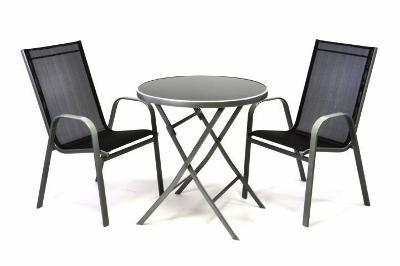 Zahradní set dvou křesel a skleněného stolku 35094