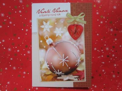 NOVÁ pohlednice - VÁNOCE - přání - vánoční ozdoba