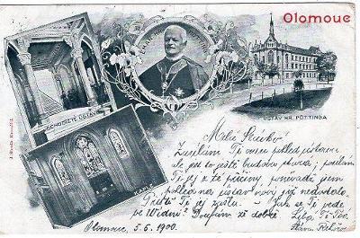 OLOMOUC DA VYD. J. SLOVÁK KROMĚŘÍŽ ROK 1900