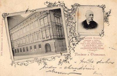 OLOMOUC DA DOPISNICE TISKOPIS 1901 2779 NÁKL. L. R. PAZDÍREK OLOMOUC