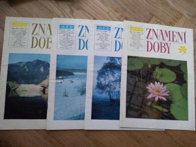Časopis Znamení doby 4/1980,4/1984,1,4/1985