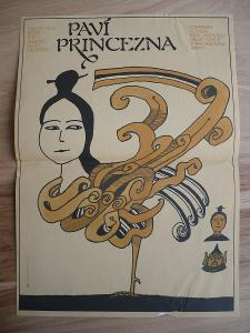 Paví princezna (filmový plakát, film Čína 1982, režie