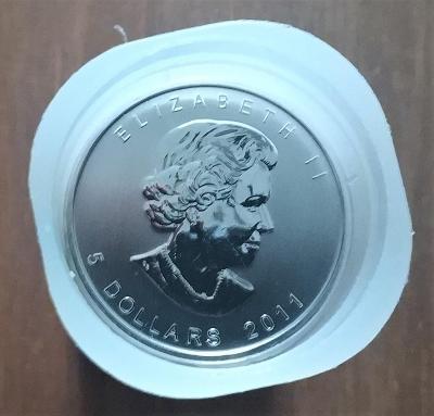 Stříbrná investiční mince Maple Leaf, Kanada