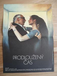 Prodloužený čas (filmový plakát, film ČSSR 1984, rež