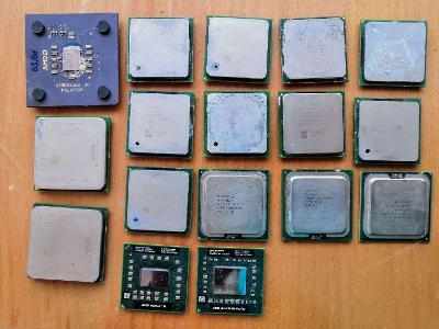 Sbírka procesorů INTEL + AMD