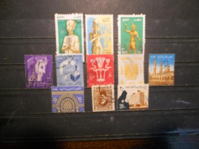 EGYPT 11 známek - každá jiná