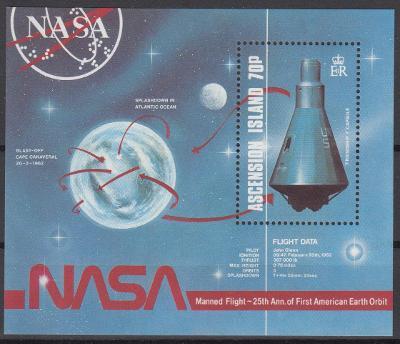 Ascension ** Mi.Bl.17 Výzkum vesmíru
