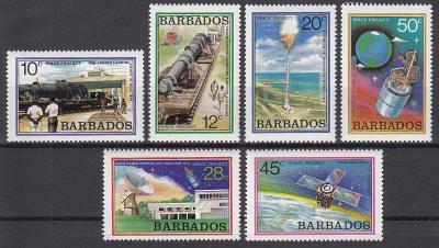 Barbados ** Mi.482-487 Výzkum vesmíru