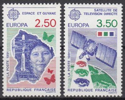 Francie ** Mi.2834-35 Europa, výzkum vesmíru