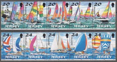 Jersey ** Mi.831-840 Jachting