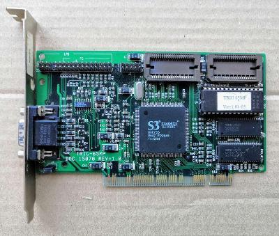 VGA S3 Trio64V+ - 1MB (možnost rozšíření na 2MB) - PCI verze
