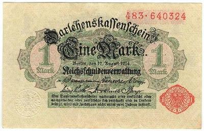 1 Mark 1914, série 483 - Německo