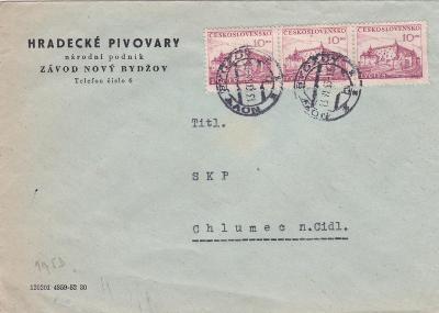 Pivovary Hradec Králové,Nový Bydžov, měnová reforma 13.6.1953-Chlumec