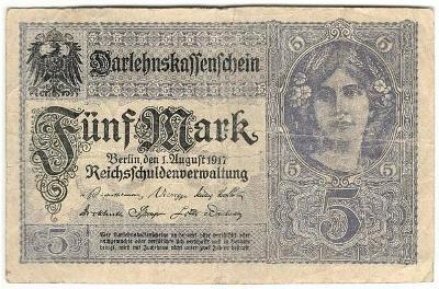 5 Mark 1917, série X - Německo