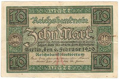 10 Mark 1920, série Z - Německo