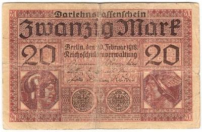 20 Mark 1918, série V - Německo