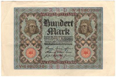 100 Mark 1920, série Y - Německo