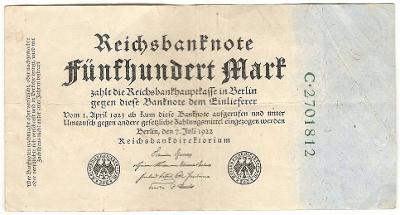 500 Mark 1922, série C - Německo