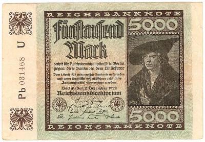 5000 Mark 1922, série Pb - Německo