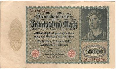 10 000 Mark 1922, série M - Německo