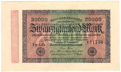 20 000 Mark 1923, série Fa-DB - Německo