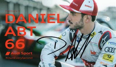 Daniel Abt - originální autogram