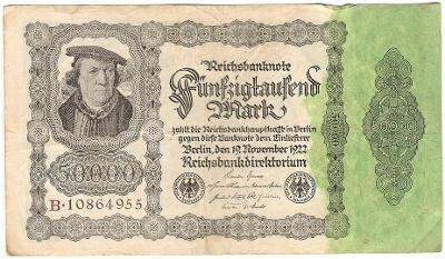 50 000 Mark 1922, série B - Německo