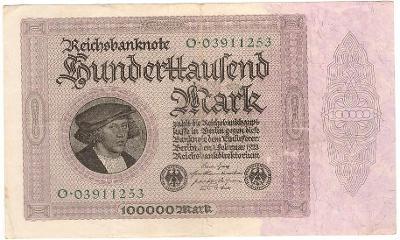 100 000 Mark 1923, série O - Německo