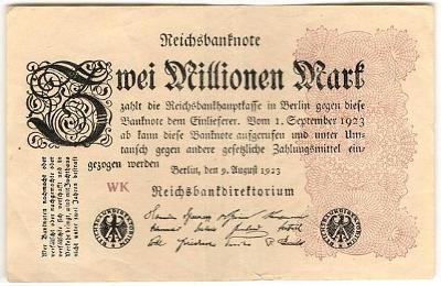2 Millionen Mark 1923, série WK - Německo