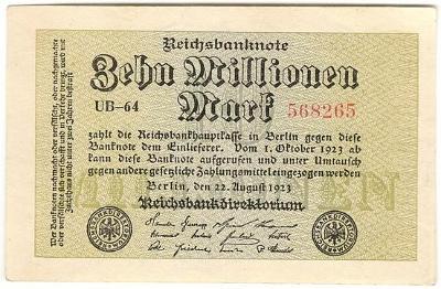 10 Millionen Mark 1923, série UB-64 - Německo
