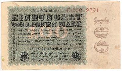 100 Millionen Mark 1923, série F - Německo
