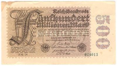 500 Millionen Mark 1923, série FM-14 - Německo