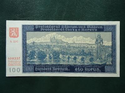 100 Korun 1940 Serie 11  G Neperforovana 2 Vydani UNC