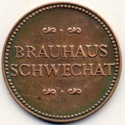 Známka pivovar SCHWECHAT 1/2 LITER