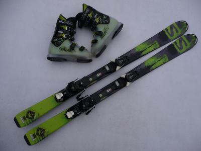 158. Juniorskě lyže SALOMON MAX -130 cm + boty DALBELLO 38 eu
