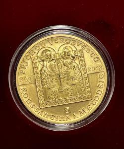 Zlatá mince 10000 Kč Konstantin a Metoděj Příchod věrozvěstů 1oz BK