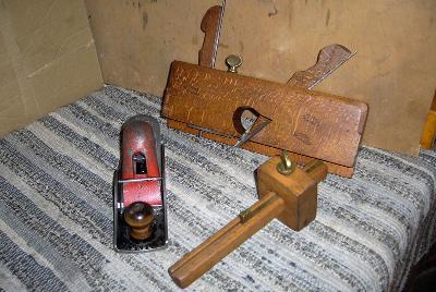 BM No.110 hoblík, dřevěný drážkovník hoblík a rejsek truhlářský