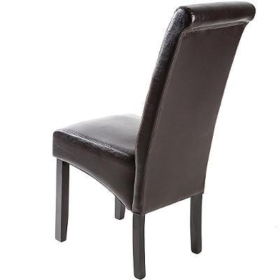tectake 403496 4 jídelní židle ergonomické, masivní dřevo - hnědá