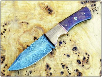 191/ Damaškový lovecký nůž. Rucni vyroba.