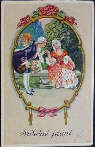 V. Vosátko - Rokokové srdečné přání - 1926