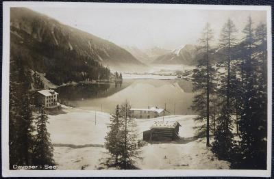 Švýcarsko - jezero Davos-See - 1926