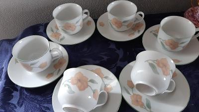 Kávová souprava -sada hrníčků -THUN- motiv květiny