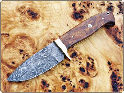 178/ Damaškový lovecký nůž. Rucni vyroba.